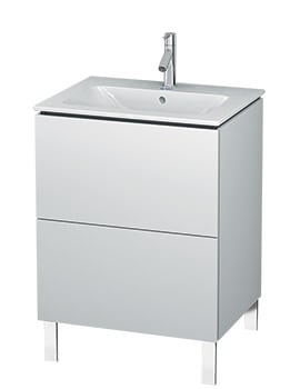 Duravit L-Cube 620mm Floor Standing Vanity Unit With Me By Starck Basin