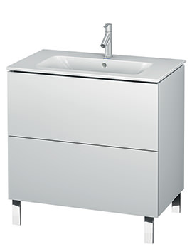 Duravit L-Cube 820mm Floor Standing Vanity Unit With Me By Starck Basin
