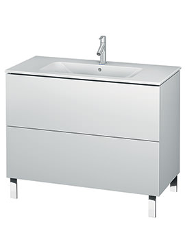 Duravit L-Cube 1020mm Floor Standing Vanity Unit With Me By Starck Basin