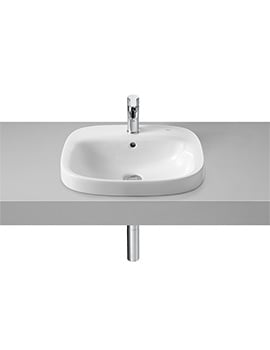 Roca Debba In-countertop Washbasin - W 500 x D 410 x H 165mm