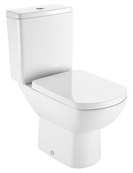 Roca Aire Vitreous China Close-Coupled WC Pan With Horizontal Outlet
