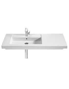 Roca Prisma Wall-hung Or Vanity 1 Tap Hole Basin - W 900 x D 450mm