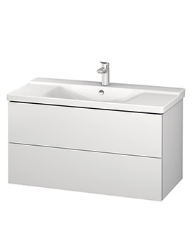 Duravit L-Cube 1020mm Wall Mounted Vanity Unit With P3 Comforts Basin
