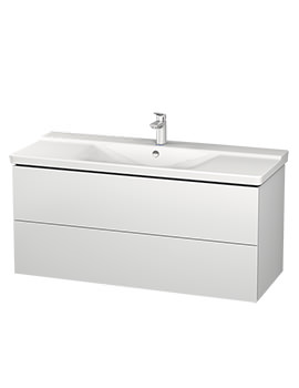 Duravit L-Cube 1220mm Wall Mounted Vanity Unit With P3 Comforts Basin