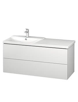Duravit L-Cube 1220mm Vanity Unit With P3 Comforts Basin - Bowl On Left