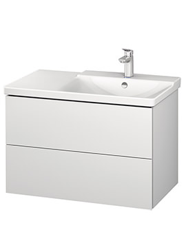 Duravit L-Cube 820mm Vanity Unit With P3 Comforts Basin - Bowl On Right