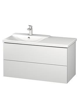 Duravit L-Cube 1020mm Vanity Unit With P3 Comforts Basin - Bowl On Left