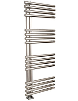 Apollo Garda Offset Stainless Steel 500 x 1200mm Towel Warmer