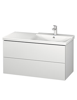 Duravit L-Cube 1020mm Vanity Unit With P3 Comforts Basin - Bowl On Right