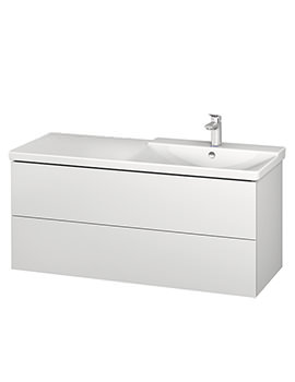 Duravit L-Cube 1220mm Vanity Unit With P3 Comforts Basin - Bowl On Right