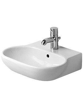 Duravit Bathroom Foster 470 x 390mm 1 Tap Hole Handrinse Basin