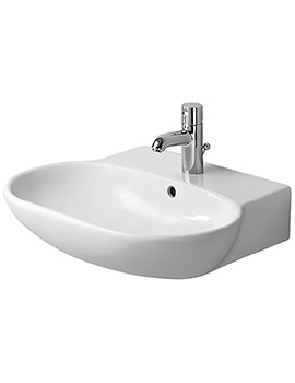 Duravit Bathroom Foster 600 x 490mm 1 Tap Hole Washbasin