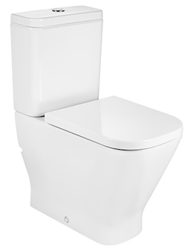 Roca The Gap Back-To-Wall Close Coupled Toilet - Comfort Height