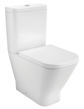 Roca Compact Back-To-Wall Close-Coupled Rimless Toilet