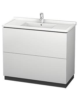 Duravit L-Cube 1020 x 864mm Floor Standing Vanity Unit With Starck 3 Basin