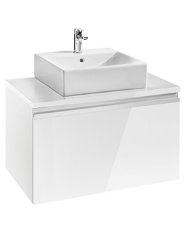 Roca Heima Base Unit With Worktop 800 x 500mm For Over Countertop Basin