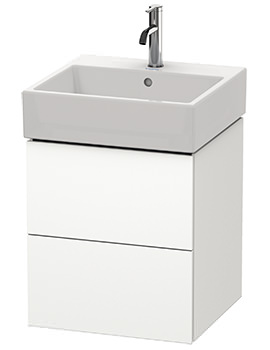 Duravit L-Cube 484mm 2 Drawer Vanity Unit With Vero Air Basin