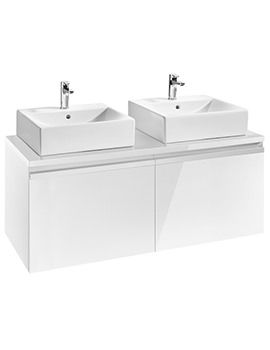 Roca Heima 1200 x 500mm Base Unit For Two Over Countertop Basin