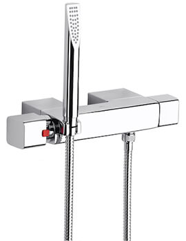 Roca Thesis Wall Mounted Thermostatic Shower Mixer With Kit