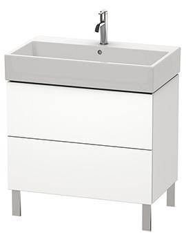 Duravit L-Cube 784mm Floor Standing Vanity Unit With Vero Air Basin