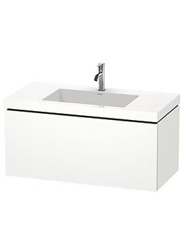 Duravit L-Cube 1000mm 1 Drawer Vanity Unit With C-Bonded Basin