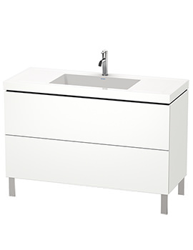Duravit L-Cube 1200mm Floor Standing Vanity Unit With C-Bonded Basin