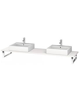 Duravit L-Cube 800 x 480mm White Matt 2 Cut Out Console