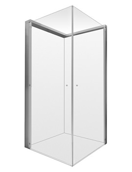 Duravit OpenSpace 885 x 885mm Square Shower Screen For Tap On Left Side