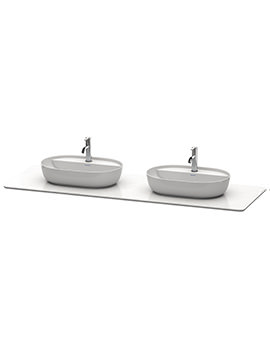 Duravit Luv 1783 x 595mm 2 Cut-Out Quartz Stone Console