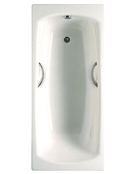 Roca Swing 1800 x 800mm 3mm Steel Bath With Anti Slip Base 2 Tapholes