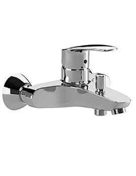 Roca Monodin-N Wall-Mounted Bath-Shower Mixer Tap With Automatic Diverter