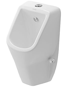 Duravit D-Code 305 x 290mm Rimless Urinal With Visible Inlet