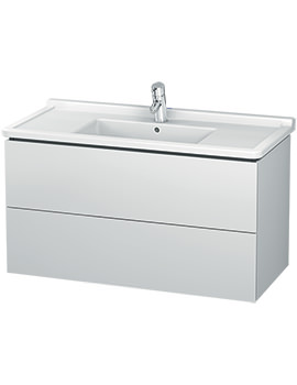 Duravit L-Cube 1020mm 2 Drawer Wall Mounted Vanity Unit With Starck 3 Basin