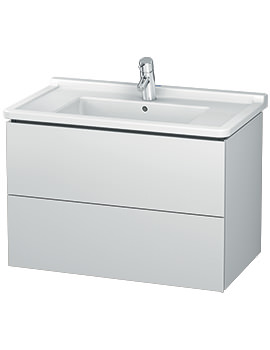 Duravit L-Cube 820mm 2 Drawer Wall Mounted Vanity Unit With Starck 3 Basin