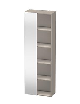 Duravit Darling New 1800mm Terra Shelf Tall Unit With Left Side Mirror