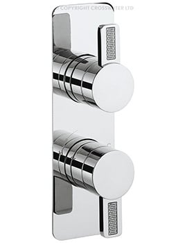 Crosswater Glitter Recessed Thermostatic Shower Valve