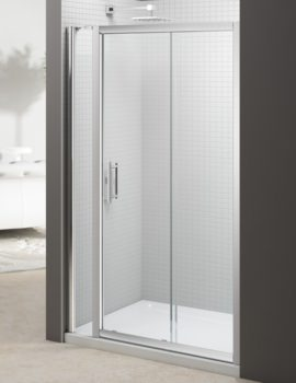 Merlyn 6 Series 1600mm Sliding Door And 140mm Inline Panel