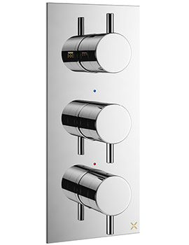 Crosswater Mike Pro Thermostatic Chrome Portrait Shower Valve