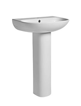 Tavistock Orbit 555mm Basin With Full Pedestal