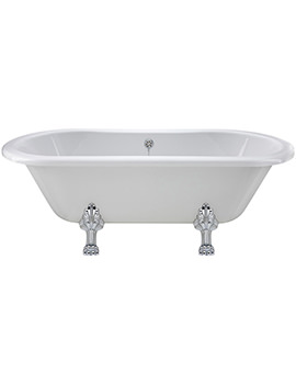 Hudson Reed Grosvenor 1500 x 745mm Freestanding Acrylic Double Ended Bath With Pride Legs