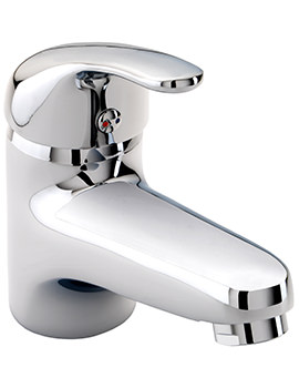 Twyford X52 Low Flow Mono Basin Mixer Tap With Click Clack Waste