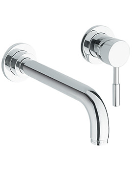 Twyford Sola 2 Hole Wall Mounted Basin Mixer Tap