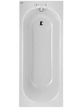 Twyford Opal 1700 x 700mm Plain 2 Tap Hole Acrylic Bath