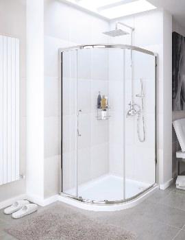 Lakes Classic Single Door Offset Quadrant Shower Enclosure 1200 x 800mm