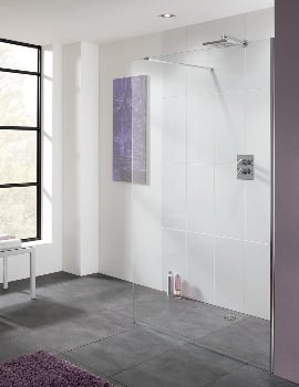 Lakes Coastline Cannes 10mm Glass Walk In Shower Screen 800 x 2000mm