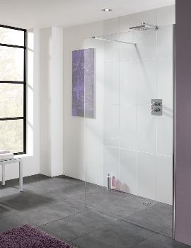 Lakes Coastline Cannes 10mm Glass Walk In Shower Screen 1200 x 2000mm