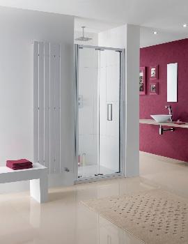 Lakes Coastline Bergen 1000 x 2000mm Bi-Fold Shower Door