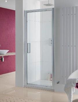Lakes Coastline Narva 900 x 2000mm Pivot Shower Door