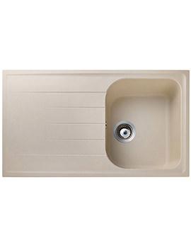 Rangemaster Amethyst 1 Bowl Stone Finish Igneous Granite Sink