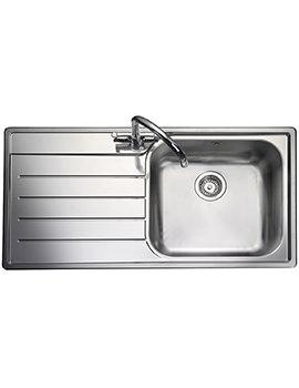 Rangemaster Oakland Left Hand Drainer 1 Bowl Stainless Steel Kitchen Sink